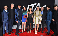LOS ANGELES, CA. February 05, 2019: Keean Johnson, James Cameron, Robert Rodriguez, Lana Condor, Rosa Salazar, Jennifer Connelly, Jon Landau, Jorge Lendeborg Jr. &amp; Ed Skrein at the premiere for &quot;Alita: Battle Angel&quot; at the Regency Village Theatre, Westwood.<br /> Picture: Paul Smith/Featureflash