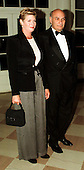 Michael Kahn, Artistic Director, Shakespeare Theatre and Kelly McGillis arrive at The White House in Washington, D.C. for a dinner in honor of the National Medal of Arts recipients on January 9, 1997..Credit: Ron Sachs / CNP