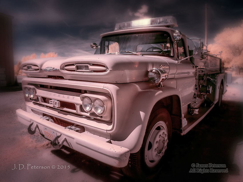 Fire Truck, Monticello, Utah (Infrared)