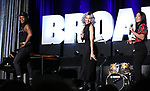 "Jewelle Blackman, Yvette Gonzalez-Nacer and Kay Trinadad from ""Hadestown"" during the BroadwayCON 2020 First Look at the New York Hilton Midtown Hotel on January 24, 2020 in New York City."