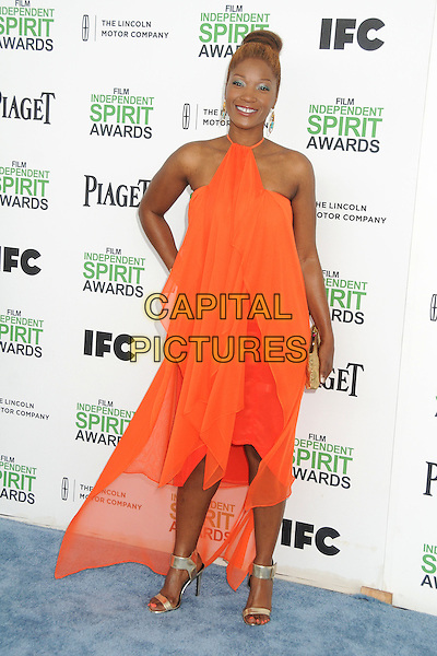1 March 2014 - Santa Monica, California - Yolonda Ross. 2014 Film Independent Spirit Awards - Arrivals held at Santa Monica Beach. <br /> CAP/ADM/BP<br /> &copy;Byron Purvis/AdMedia/Capital Pictures