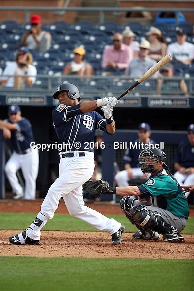 Christian Bethancourt - San Diego Padres 2016 spring training (Bill Mitchell)