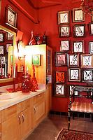 red luxury bathroom