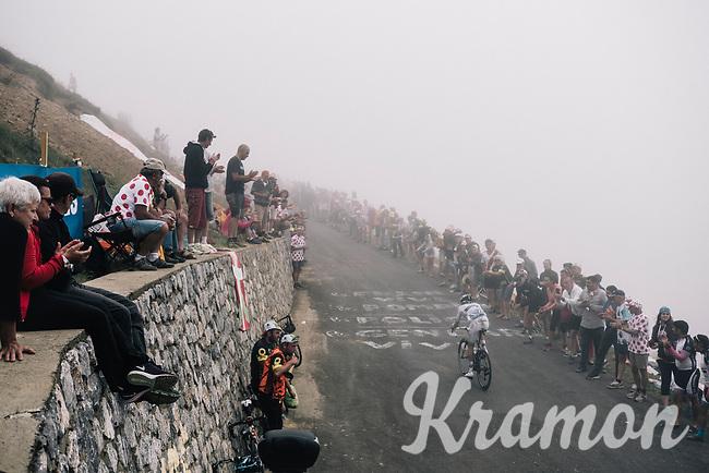 Maxime Bouet (FRA/Fortuneo-Oscaro) up the Port de Bal&egrave;s (HC/1755m/11.7km/7.7%)<br /> <br /> 104th Tour de France 2017<br /> Stage 12 - Pau &rsaquo; Peyragudes (214km)