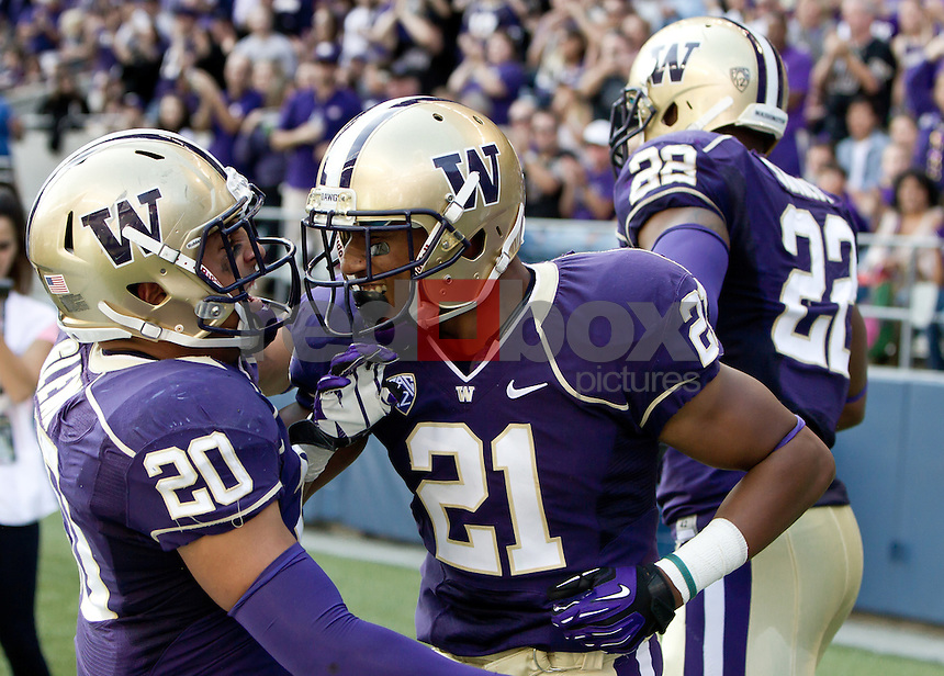 Marcus Peters. The University of Washington football team defeats Portland State 52-13 at Century Link Stadium in Seattle on Saturday September 15, 2012. (Photography By Scott Eklund/Red Box Pictures)