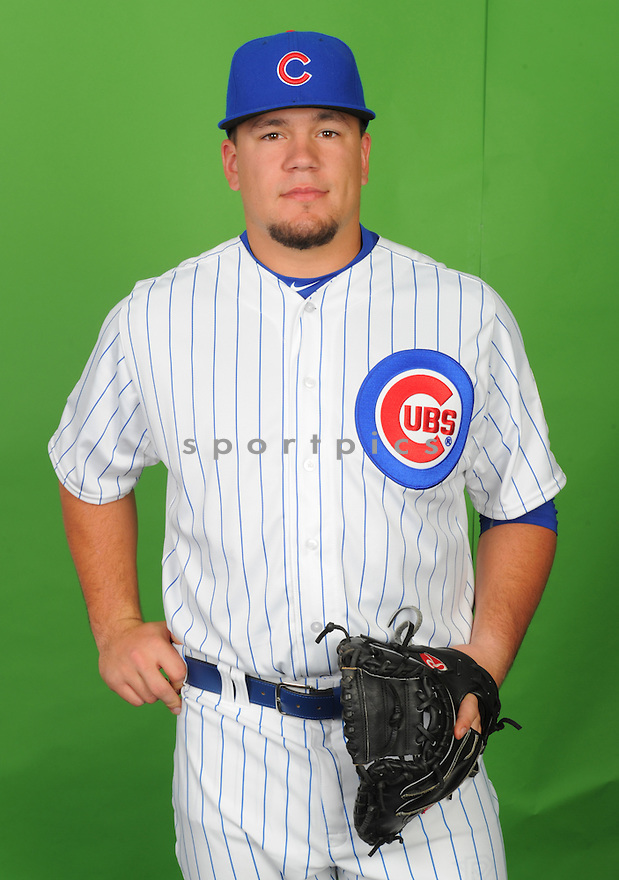 Chicago Cubs Kyle Schwarber (74) during photo day on March 2, 2015 in Mesa, AZ.