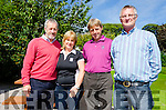 Pictured at the Kilcummin GAA Golf Classic at Beaufort Golf Club are MEP Sean Kelly, Breda Duggan (Kilcummin GAA), Tim Geaney, & Willie Fleming (Kilcummin GAA).  Tim was a very happy golfer having achieved the intimate hole in one on the par 3 fourth hole.
