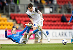 St Johnstone v Inverness Caley Thistle...02.05.15   SPFL<br /> David Wotherspoon is sent flying by Greg Tansey<br /> Picture by Graeme Hart.<br /> Copyright Perthshire Picture Agency<br /> Tel: 01738 623350  Mobile: 07990 594431