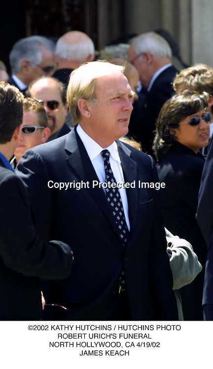 ©2002 KATHY HUTCHINS / HUTCHINS PHOTO.ROBERT URICH'S FUNERAL.NORTH HOLLYWOOD, CA 4/19/02.JAMES KEACH