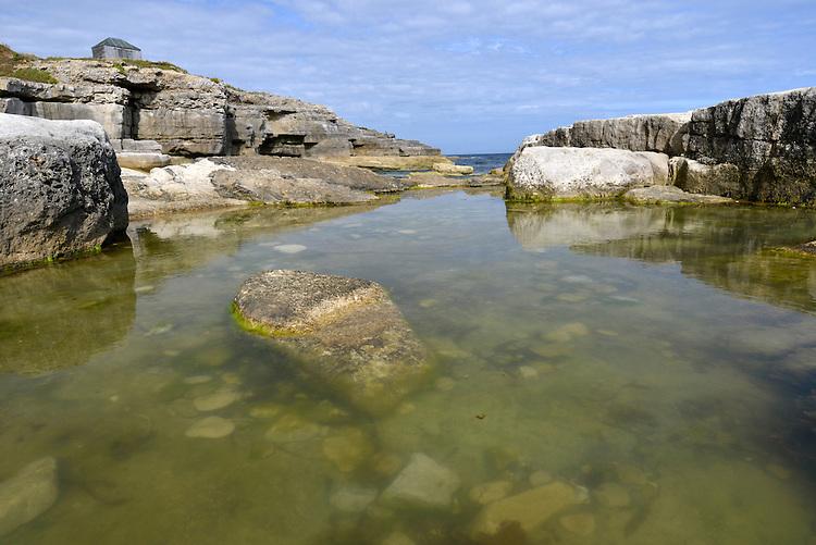 Classic coastal rock pool, Portland, Dorset