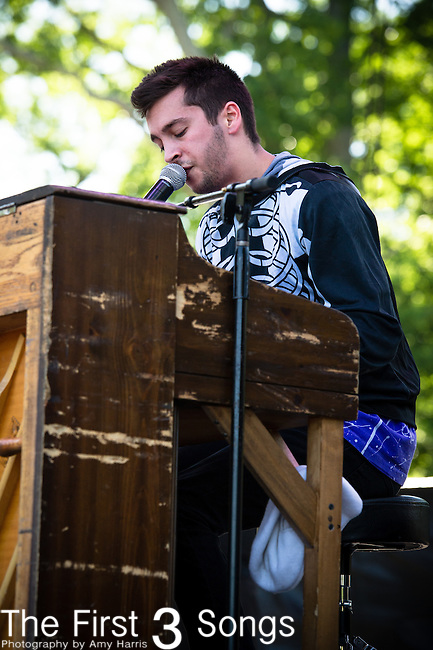Tyler Joseph of twenty one pilots performs during Day 1 of the 2013 Firefly Music Festival in Dover, Delaware.