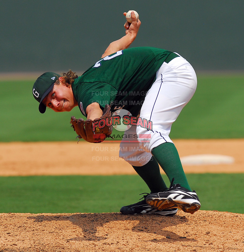 3 September 2007: Joshua Papelbon of the Greenville Drive, Class A South Atlantic League affiliate of the Boston Red Sox, in a game against the Asheville Tourists at West End Field in Greenville, S.C. Photo by:  Tom Priddy/Four Seam Images