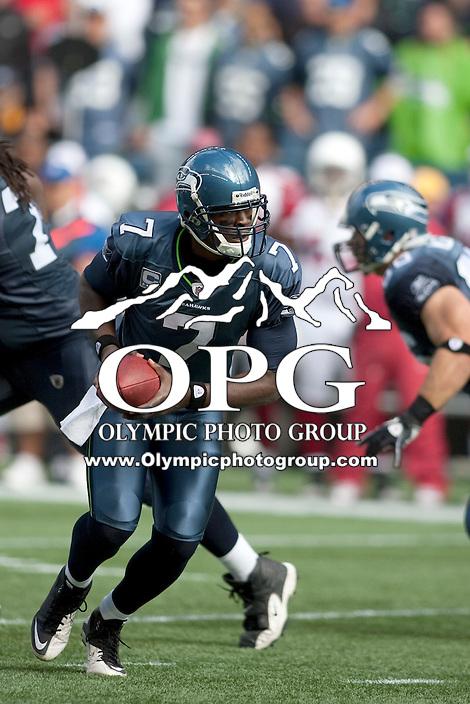 Sept 25, 2011: Tarvaris Jackson against Arizona. Seattle defeated Arizona 13-10 at Century Link in Seattle, WA.