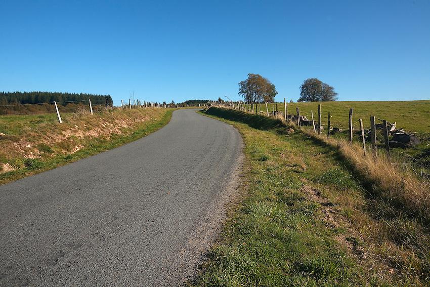 Plateau de Millevaches<br /> Route D164