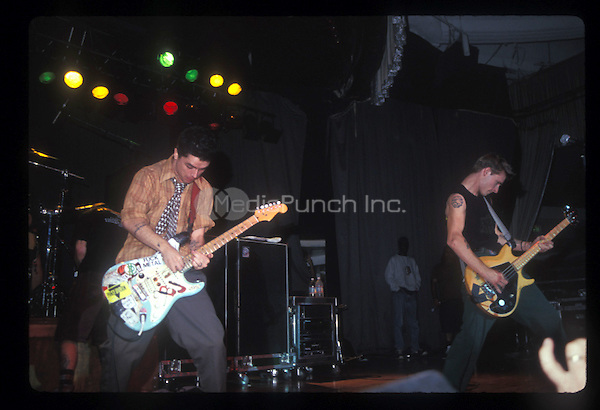 GREEN DAY performing live on the Dookie tour at the Palladium in Hollywood, CA on November 2, 1994.  Photo © Kevin Estrada / Media Punch