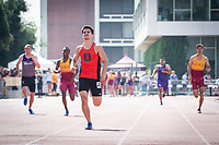 The Occidental College men's and women's track and field teams compete in the 2019 Southern California Intercollegiate Athletic Conference (SCIAC) Track and Field Championships at the Claremont-Mudd-Scripps Burns Track Complex in Claremont, Calif. on Saturday, April 27, 2019.<br /> After the two-day SCIAC Championships CMS scored 211.50 points, followed by Pomona-Pitzer (171.50), Redlands (114), Occidental (92.50), Whittier (57.50), La Verne (54), Cal Lutheran (48), Chapman (23) and Caltech (4). <br /> <br /> (Photo by Eddie Ruvalcaba, Image of Sport)