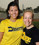 Chairs Jill Ford and Callie Parker at the 5th Annual Blondes vs Brunettes Powder Puff Football Game at St. John's School Saturday May 15,2010.  (Dave Rossman Photo)