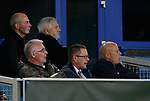 Paul Stretford, Wayne Rooneys agent watches the game with Coleen's Dad (L) during the Europa League Group E match at Goodison Park Stadium, Liverpool. Picture date: September 28th 2017. Picture credit should read: Simon Bellis/Sportimage