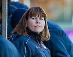 AMSTELVEEN - manager Astrid Kersseboom (SCHC) voor  de competitie hoofdklasse hockeywedstrijd dames, Pinoke-SCHC (1-8) . COPYRIGHT KOEN SUYK