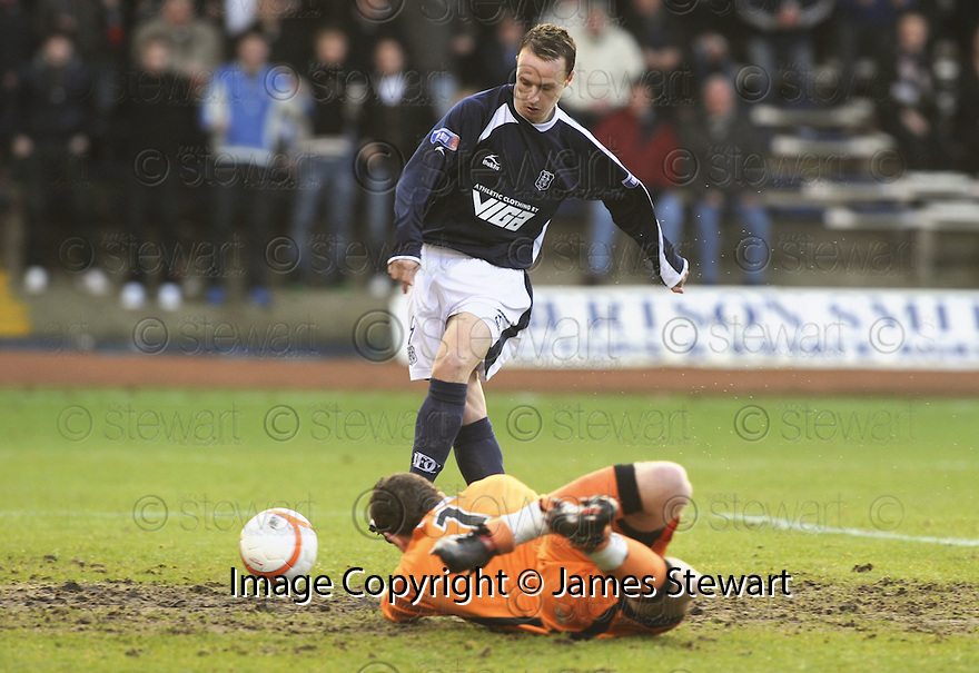 17/01/2010  Copyright  Pic : James Stewart.sct_jspa_01_dundee_v_dunfermline  .:: DUNDEE'S LEIGH GRIFFITHS SCORES THE FIRST::.James Stewart Photography 19 Carronlea Drive, Falkirk. FK2 8DN      Vat Reg No. 607 6932 25.Telephone      : +44 (0)1324 570291 .Mobile              : +44 (0)7721 416997.E-mail  :  jim@jspa.co.uk.If you require further information then contact Jim Stewart on any of the numbers above.........