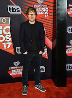 Ed Sheeran at the 2017 iHeartRadio Music Awards at The Forum, Los Angeles, USA 05 March  2017<br /> Picture: Paul Smith/Featureflash/SilverHub 0208 004 5359 sales@silverhubmedia.com