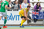 Mannheim, Germany, June 10: During the U16 Boys fieldhockey match between Australia and Ireland at the Whitsun Tournament on June 10, 2019 at Am Neckarkanal in Mannheim, Germany. (Copyright Dirk Markgraf) ***