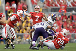 MADISON, WI - SEPTEMBER 9: Quarterback John Stocco #7 of the Wisconsin Badgers throws a pass against the Western Illinois Leathernecks at Camp Randall Stadium on September 9, 2006 in Madison, Wisconsin. The Badgers beat the Leathernecks 34-10. (Photo by David Stluka)