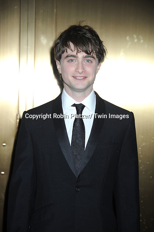 Daniel Radcliffe arriving at The 61st Annual Tony Awards on June 13, 2010 at Radio City Music Hall in New York City.