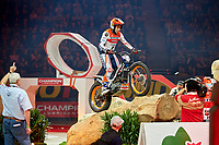 2nd February 2020; Palau Sant Jordi, Barcelona, Catalonia, Spain; X Trial Mountain Biking Championships; Toni Bou (Spain) of the Montesa Team in action during the X Trial indoor Barcelona