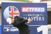 Tommy Fleetwood (ENG) during the Hero Pro-am at the Betfred British Masters, Hillside Golf Club, Lancashire, England. 08/05/2019.<br /> Picture Fran Caffrey / Golffile.ie<br /> <br /> All photo usage must carry mandatory copyright credit (© Golffile | Fran Caffrey)