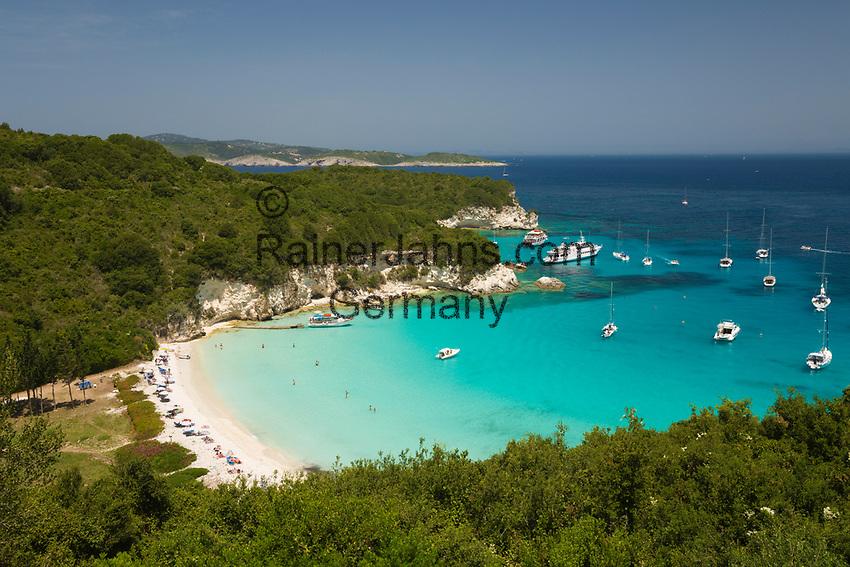 Greece, Ionian Islands, Antipaxos: Voutoumi beach | Griechenland, Ionische Inseln, Andipaxos (Antipaxos): Voutoumi beach