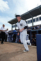 New York Yankees left fielder Ben Gamel (82) is introduced before a Spring Training game against the Detroit Tigers on March 2, 2016 at George M. Steinbrenner Field in Tampa, Florida.  New York defeated Detroit 10-9.  (Mike Janes/Four Seam Images)