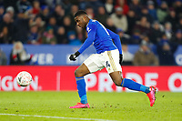 4th March 2020; King Power Stadium, Leicester, Midlands, England; English FA Cup Football, Leicester City versus Birmingham City; Kelechi Iheanacho of Leicester City side foots his disallowed goal go into the net