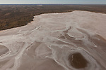 Aerial - Sturt Stoney Desert with dry salt lakes.