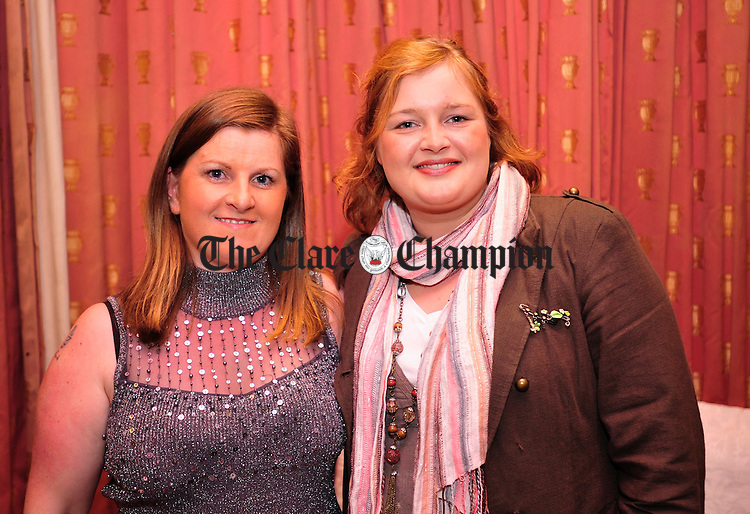 Tina Mc Carthy and Lucy Beechann pictured at the Clare Champion Window Display Awards at the Old Ground Hotel. Photograph by Declan Monaghan