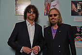 "Jeff Lynne of ELO and Tom Petty photographed at the premiere screening of the documentary film ""Mr. Blue Sky"" at The Grammy Museum in Los Angeles, CA USA - September 12, 2012.  Photo credit:  Kevin Estrada /  IconicPix"