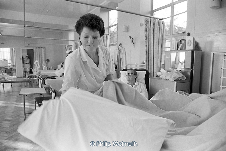 Domestic worker on a geriatric ward, St.Nicholas Hospital Greenwich.