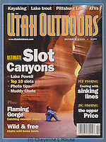 Utah Outdoors Magazine<br /> Slot canyon cover