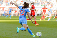 Bridgeview, IL - Sunday June 12, 2016: Christen Press during a regular season National Women's Soccer League (NWSL) match between the Chicago Red Stars and the Portland Thorns at FC Toyota Park.