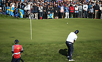 Patrick Reed (Team USA) on the 12th during Saturday's Fourballs, at the Ryder Cup, Le Golf National, Île-de-France, France. 29/09/2018.<br /> Picture David Lloyd / Golffile.ie<br /> <br /> All photo usage must carry mandatory copyright credit (© Golffile | David Lloyd)