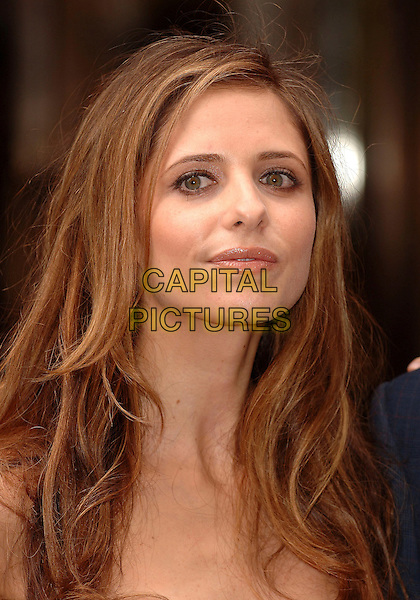 SARAH MICHELLE GELLAR .Opens the Harrods Summer Sale, Knightsbridge, .London, England, 2nd July 2007..portrait headshot.CAP/ BEL.©Tom Belcher/Capital Pictures...