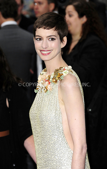 WWW.ACEPIXS.COM . . . . .  ..... . . . . US SALES ONLY . . . . .....July 18 2012, London....Anne Hathaway at the European premiere of 'The Dark Knight Rises' at the Odeon West End on July 18 2012 in London ....Please byline: FAMOUS-ACE PICTURES... . . . .  ....Ace Pictures, Inc:  ..Tel: (212) 243-8787..e-mail: info@acepixs.com..web: http://www.acepixs.com