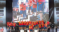 Euro 2012: Celebration<br /> Spain's Euro 2012 championship soccer team arrives to Madrid