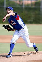 Rich Hill / AZL Cubs, in a rehab appearance against the AZL Angels on July 12, 2008 at the Cubs training complex in Mesa, AZ..Photo by:  Bill Mitchell/Four Seam Images