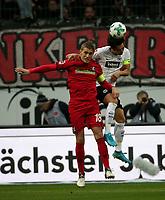 13.01.2018, Commerzbank - Arena, Frankfurt, GER, 1.FBL, Eintracht Frankfurt vs SC Freiburg<br /> , <br />Nils Petersen (Freiburg), Makoto Hasebe (Frankfurt) *** Local Caption *** © pixathlon<br /> Contact: +49-40-22 63 02 60 , info@pixathlon.de