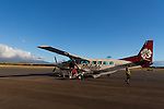 The flight from Ho'olehua, Molokai to Maui, Hawaii, USA