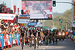 Team Sky cross the finish line at the end of Stage 19 of the 2017 La Vuelta, running 149.7km from Caso. Parque Natural de Redes to Gij&oacute;n, Spain. 8th September 2017.<br /> Picture: Unipublic/&copy;photogomezsport | Cyclefile<br /> <br /> <br /> All photos usage must carry mandatory copyright credit (&copy; Cyclefile | Unipublic/&copy;photogomezsport)