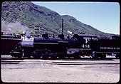 D&amp;RGW #481 K-36 - Durango.<br /> D&amp;RGW  Durango, CO