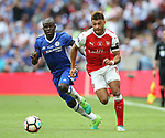 Alex Oxlade-Chamberlain of Arsenal goes past Ngolo Kante of Chelsea during the Emirates FA Cup Final match at Wembley Stadium, London. Picture date: May 27th, 2017.Picture credit should read: David Klein/Sportimage
