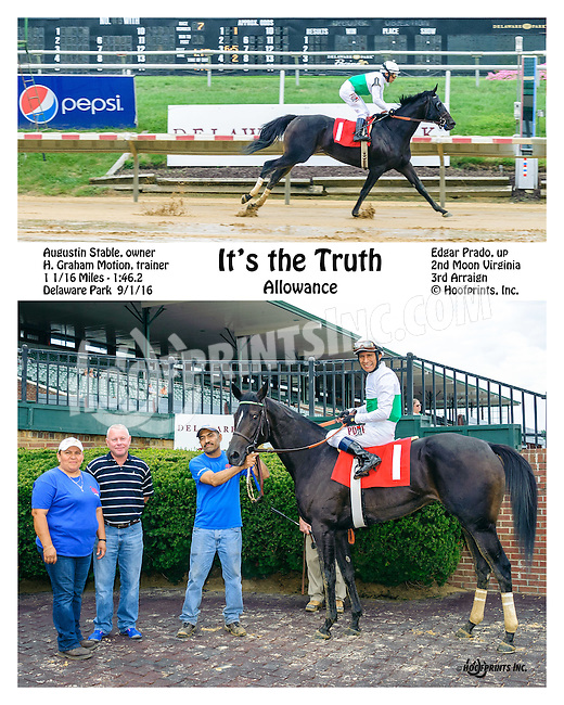 It's The Truth winning at Delaware Park on 9/1/16